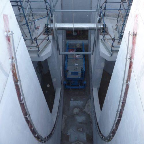 Water intake drum screen vertical - civil construction - Hubert