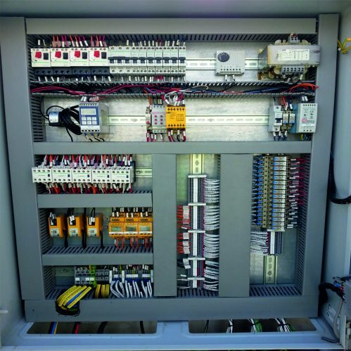 water intake system - MCC cabinet screens - water intake system - piping and controls - Hubert